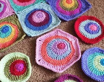 CROCHET PATTERN BLANKET/Offset Circles Blanket/crochet blanket pattern/modern crochet pattern/crochet afghan pattern/geometric crochet gift