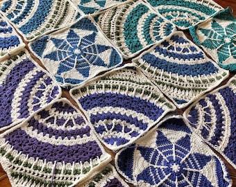 CROCHET GLORIA BLANKET patterns/crochet blanket/wedding gift/housewarming/crochet decor/easy crochet pattern