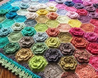 CROCHET BABY AFGHAN/crochet blanket afghan pattern/popular crochet pattern/crochet baby blanket/easy crochet/baby shower/happy little tree