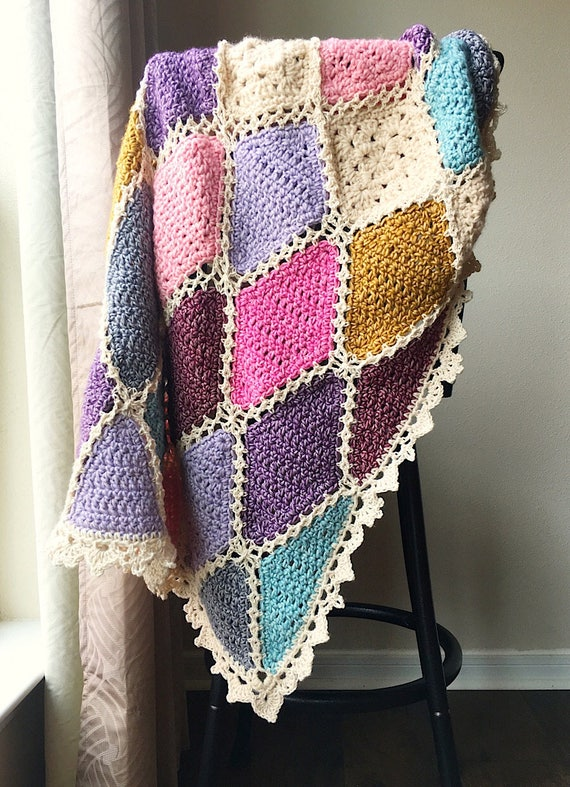 CROCHET PATTERN/baby blanket pattern/Crochet blanket Pattern/granny square pattern/baby shower gift/crochet afghan/modern shabby chic