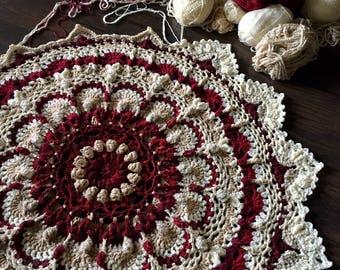 CROCHET MANDALA PATTERN/Crochet blanket Pattern/meditation blanket/mandala rug/crochet rug pattern/crochet pattern/meditation rug zen rug