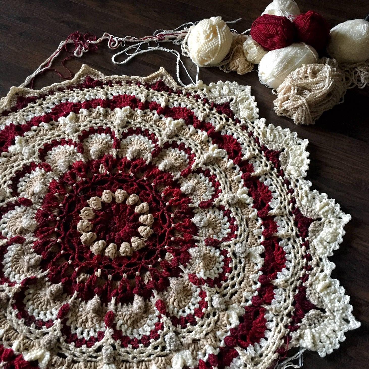 Crochet Mandala Patterncrochet Blanket Patternmeditation Blanket