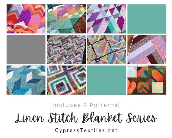 CROCHET PATTERN EBOOK/Crochet Linen Stitch Blanket Series/crochet blanket pattern/crochet pattern/crochet afghan/modern throw/easy afghan