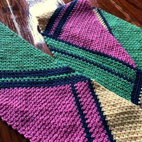 MODERN SCARF PATTERN crochet pattern/crochet scarf/easy crochet pattern/Downtown Scarf Pattern/crochet wrap/easy crochet scarf geometric