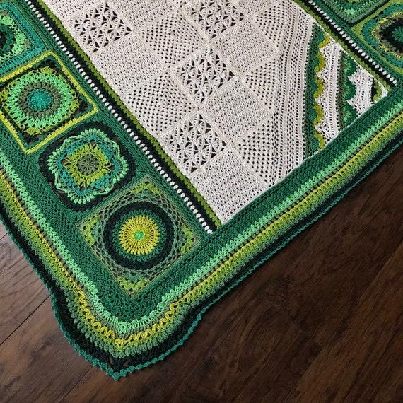 BOTANICA CROCHET patterns/crochet baby blanket/wedding gift/crochet blanket/crochet granny square/easy crochet pattern/easy blanket pattern