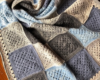 PATCHWORK CROCHET BLANKET patterns/crochet baby blanket/crochet blanket/crochet granny square/easy crochet pattern/easy blanket pattern