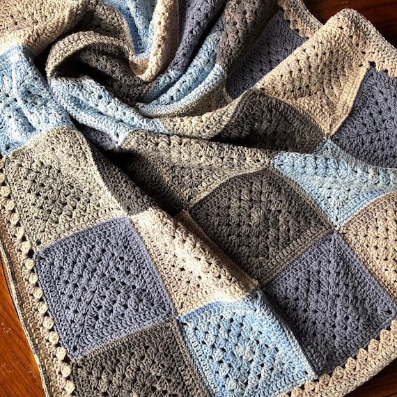 PATCHWORK CROCHET BLANKET patterns/crochet baby blanket/crochet blanket/crochet granny square/easy crochet pattern/easy blanket pattern