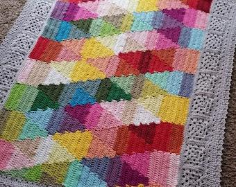 CROCHET PATTERN EBOOK/ShadeTree Ebook Issue 1/crochet blanket pattern/crochet pattern/crochet afghan/modern texture unique throw tutorial