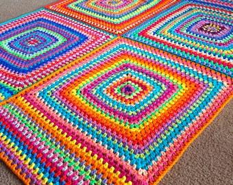 GRANNY SQUARE BLANKET Pattern/baby blanket pattern/crochet baby blanket/easy crochet pattern/crochet afghan/afghan pattern/baby afghan gift