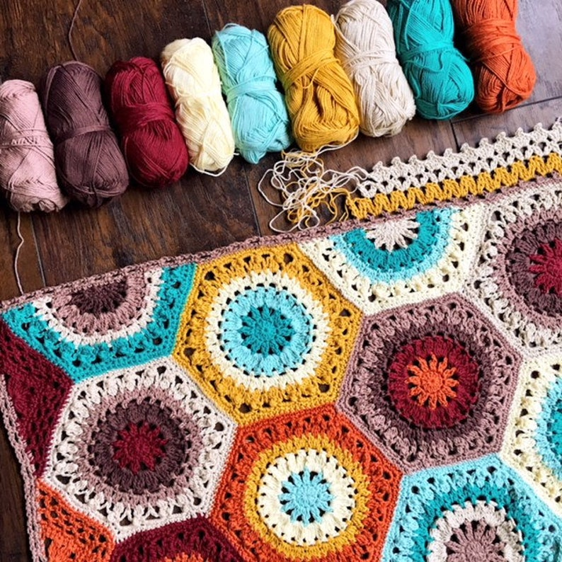 Southwestern Crochet Patternbaby Blanket Patterneasy Crochet Etsy
