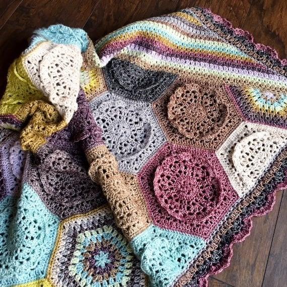CROCHET FLOWER PATTERN/crochet rose baby gift/crochet blanket pattern/baby blanket pattern/crochet afghan/crochet blanket pattern baby gift