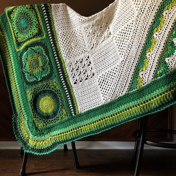 BOTANICA CROCHET patterns/crochet baby blanket/wedding gift/crochet blanket/crochet granny square/easy crochet pattern/easy blanket pattern