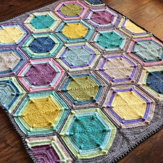 HEXAGON CROCHET PATTERN/crochet blanket baby gift/crochet blanket pattern/baby blanket pattern/crochet afghan/crochet blanket pattern baby
