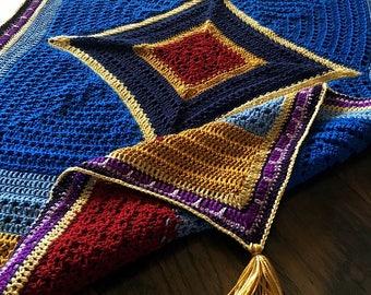 FLYING CARPET PATTERN/Crochet blanket Pattern/crochet baby blanket/popular crochet pattern/modern magic carpet rug gift/crochet rug pattern/