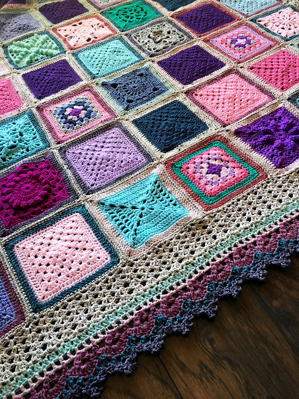 Popular Crochet Patterns Crochet Baby Blanket Wedding Gift Crochet Blanket Crochet Granny Square Easy Crochet Pattern Easy Blanket Pattern