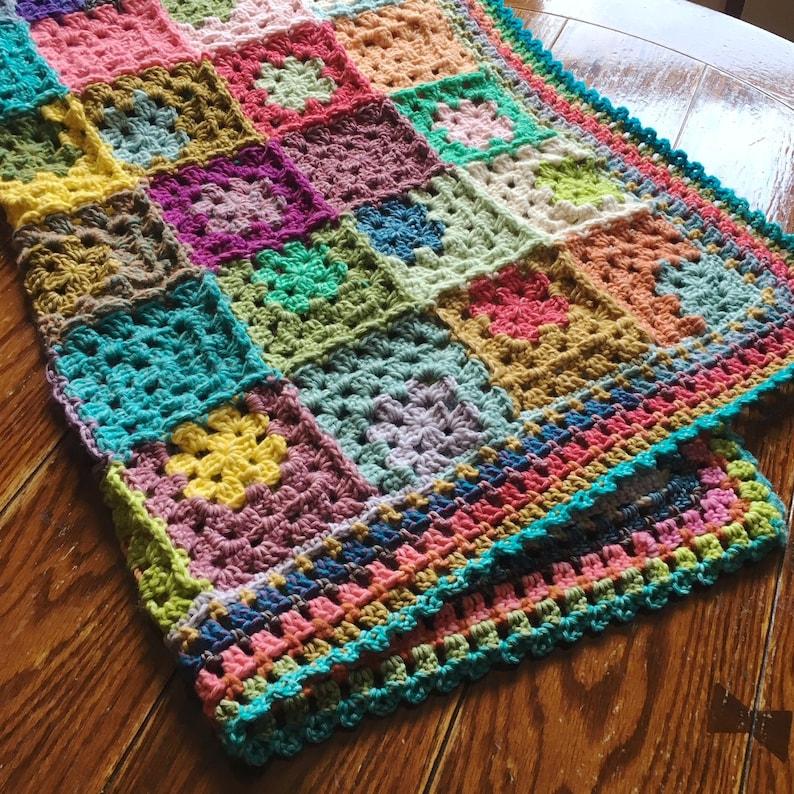EASY CROCHET PATTERN crochet blanket/granny square/crochet image 0