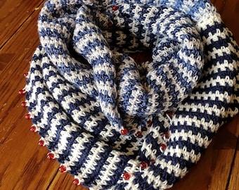 EASY CROCHET SCARF crochet scarf/striped scarf pattern/cowl pattern/crochet cowl/crochet cowl pattern/winter crochet pattern/crochet winter