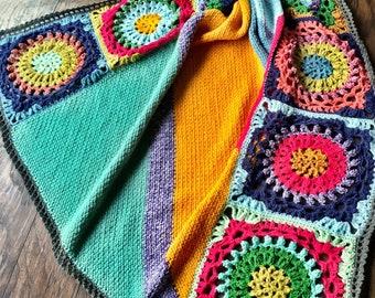 JUNGALOW CROCHET BLANKET Pattern/crochet afghan/crochet pattern/crochet baby blanket/blanket pattern crochet/easy crochet blanket/floral