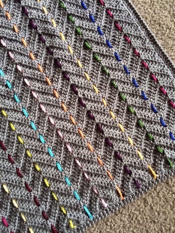 CROCHET RIPPLE BLANKET pattern/crochet baby gift/chevron crochet pattern/baby blanket pattern/crochet afghan/crochet blanket pattern gift