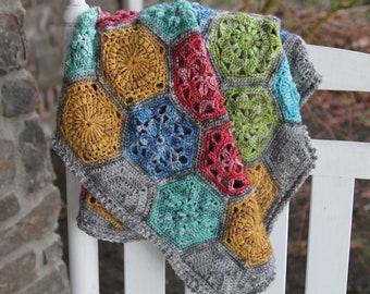 popular crochet pattern/baby blanket pattern/crochet blanket/baby blanket/Tiny Garden/modern traditional motif texture unique throw tutorial