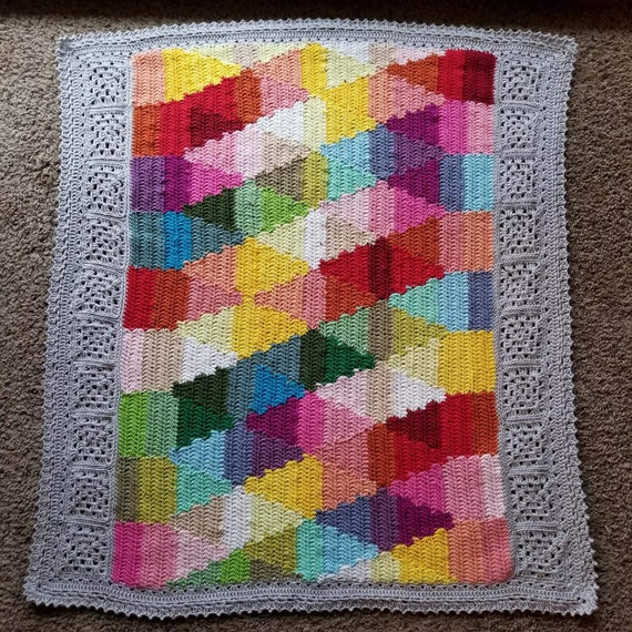 POPULAR CROCHET PATTERN/baby blanket pattern/geometric blanket pattern/crochet afghan/popular crochet pattern/modern crochet pattern gift
