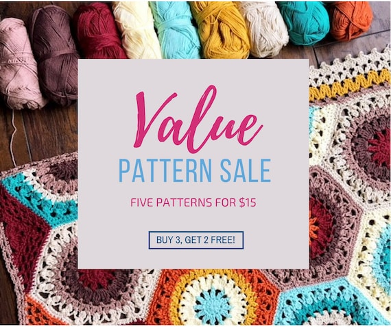 5 crochet patterns for 15USD deal/pattern sale/crochet blanket pattern/blanket pattern/popular crochet/Added value sale - speedy response