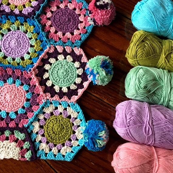 EASY CROCHET PATTERN crochet blanket/granny hexagon/crochet afghan/crochet blanket baby/crochet blanket pattern/baby blanket pattern