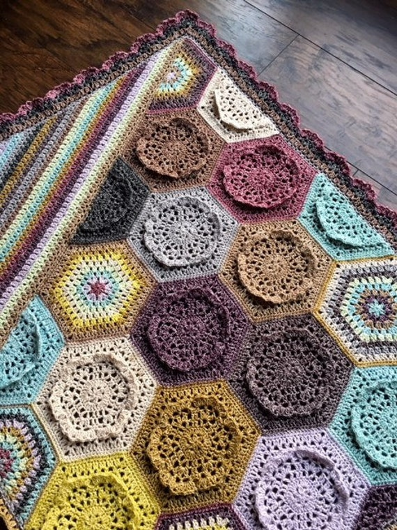 Crochet Flower Patterncrochet Rose Baby Giftcrochet Blanket Etsy