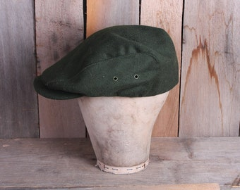 ff31f01564585 Mens Olive Green LL Bean Brand Wool Driver Style Cap Golf Hat Size Large