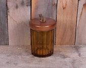 Vintage 1950 39 s Era Amber Glass Scottie Dog Topped Humidor Cigar Pipe Tobacco