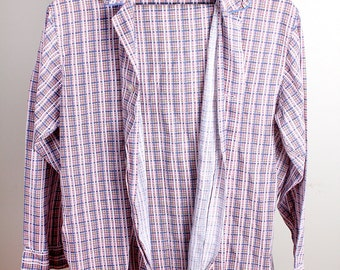Vintage 1960s Era Rest Prest by Sleepwear Cotton Mens Plaid Pajama Sleep Set
