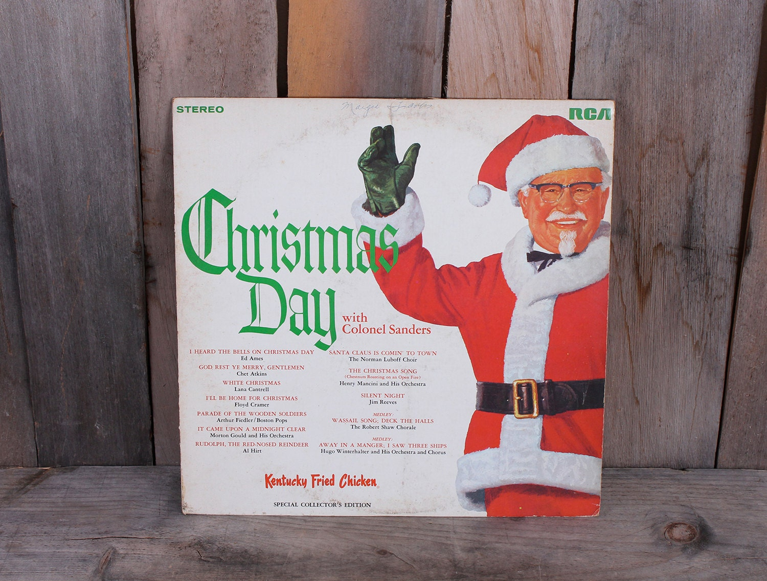 1968 Christmas Day with Colonel Sanders Kentucky Fried Chicken   Etsy