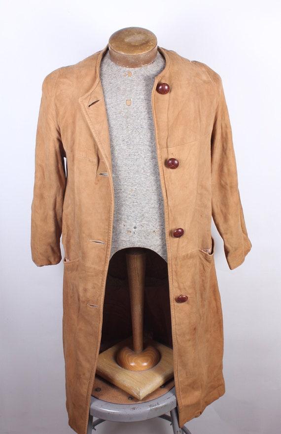 Vintage Rare Women's Full-Length Suede Leather Dri