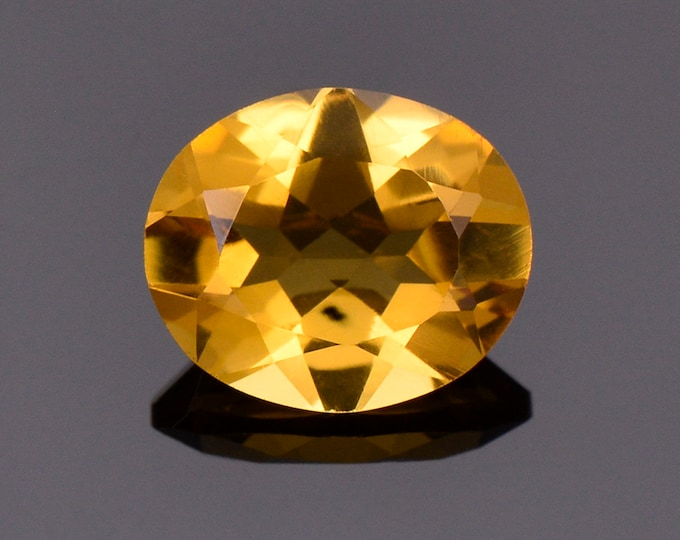 Bright Golden Yellow Citrine Gemstone from Brazil, 3.94 cts., 12x10 mm, Oval Shape