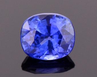 Excellent Ceylon Blue Sapphire Gemstone, 1.18 cts., 6.2x5.4 mm., Cushion Shape