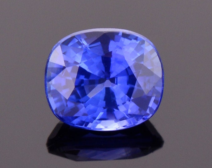 Excellent Ceylon Blue Sapphire Gemstone, 1.18 cts., 6.2x5.4 mm., Cushion Shape