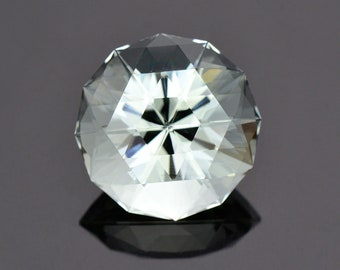 SALE! Exceptional Large Aquamarine Gemstone from Brazil, 21.22 cts., 18 mm., Custom Glitter Cut Round Shape.