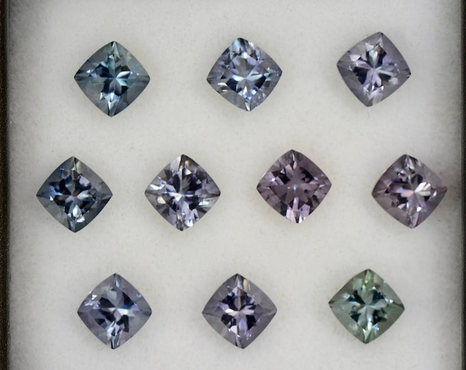 Stunning Silvery Color Tourmaline Set from Brazil 3.55 tcw.