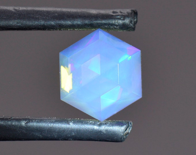 FLASH SALE! Stunning Custom Faceted Opal Gemstone from Ethiopia 1.71 cts. 7.9 mm., Rose Cut.