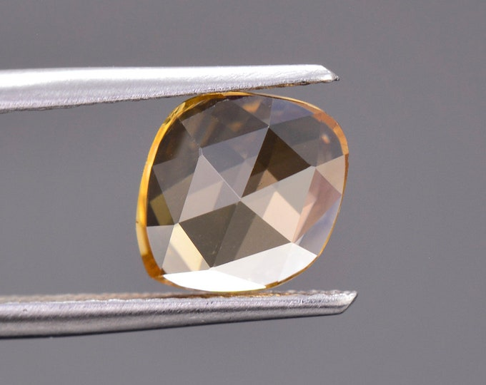 HOLIDAY SALE! Brilliant Golden Yellow Zircon Gemstone from Tanzania, 2.16 cts., 9.0 x 7.5 mm., Rose Cut.