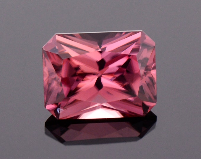 Fabulous Rose Pink Zircon Gemstone from Tanzania, 3.23 cts., 8.7x6.7 mm., Radiant Emerald Cut