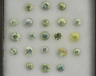 Brilliant Yellow Sapphire Gemstone Set from Montana 2.52 tcw.