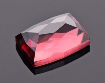 Fantastic Rosy Red Zircon Gemstone from Tanzania, 6.86 cts., 11.8 x 8.3 mm., Rose Cut Cushion Shape.