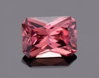 Superb Rose Pink Zircon Gemstone from Tanzania, 2.52 cts., 8 x 6 mm., Radiant Emerald Cut