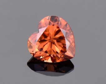Brilliant Orange Zircon Gemstone from Tanzania, 2.48 cts., 7.5 mm., Heart Shape