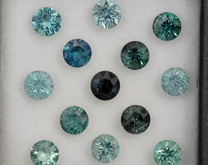 Gorgeous Blue Green Tourmaline Gemstone Set from Brazil 4.82 tcw.
