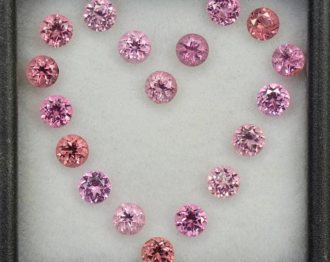 SALE! Beautiful Pink Spinel Gemstone Set from Tanzania 3.63 tcw.