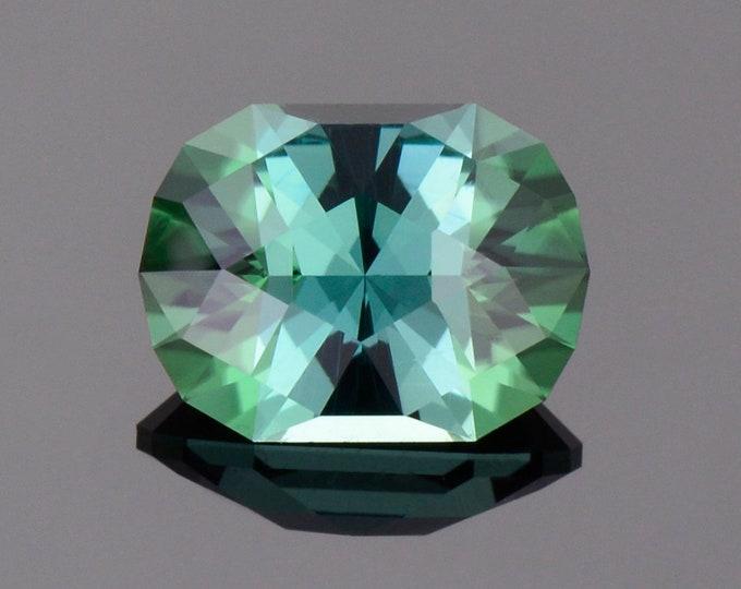 Fabulous Evergreen Tourmaline Gemstone from The Congo, 3.51 cts., 10.8 x 8.1 mm., Custom Cushion Shape
