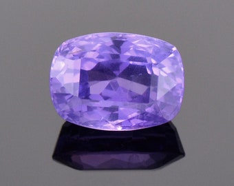 SALE! Exceptional Bright Purple Sapphire Gemstone from Sri Lanka, 2.32 cts., 8x6 mm., Cushion Shape