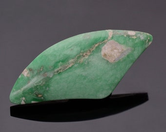 Nice Green Variscite Cabochon from Utah 42.41 cts., 48 x 21 mm., Freeform Shape